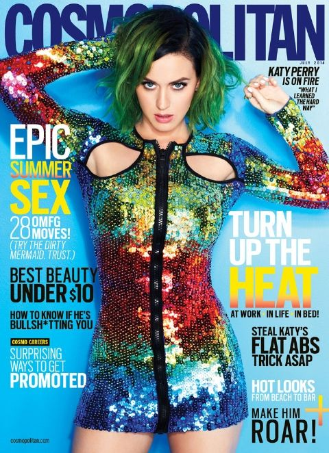 Katy Perry Cosmopolitan Cover August