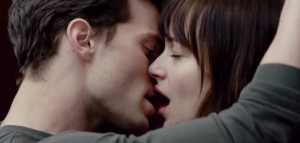 Fifty Shades of Grey stars Dakota johnson and Jamie Dornan Kiss