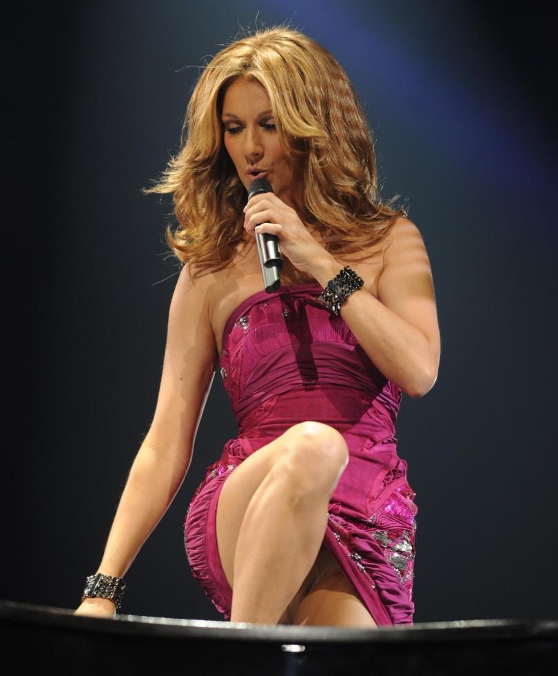 Celebrity upskirts, Celine Dion