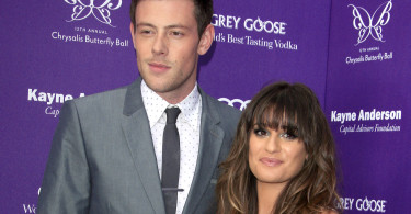Lea Michele with late boyfriend Cory Monteith (WENN)